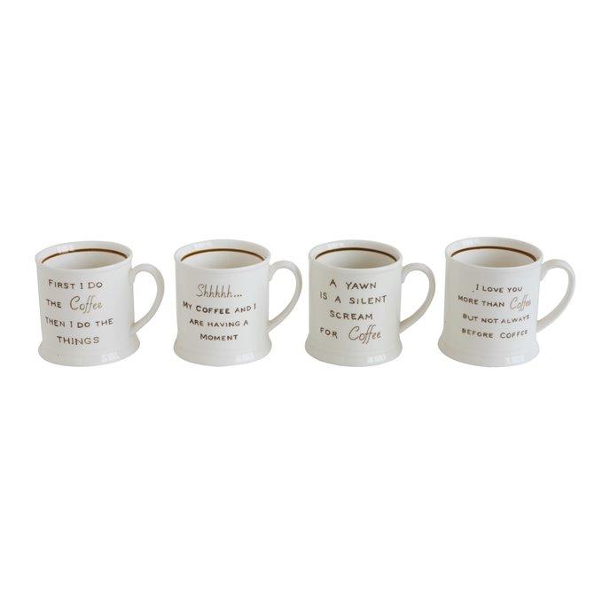Mugs with Coffee Sayings (Set of 4 Designs/Sayings) Thumbnail