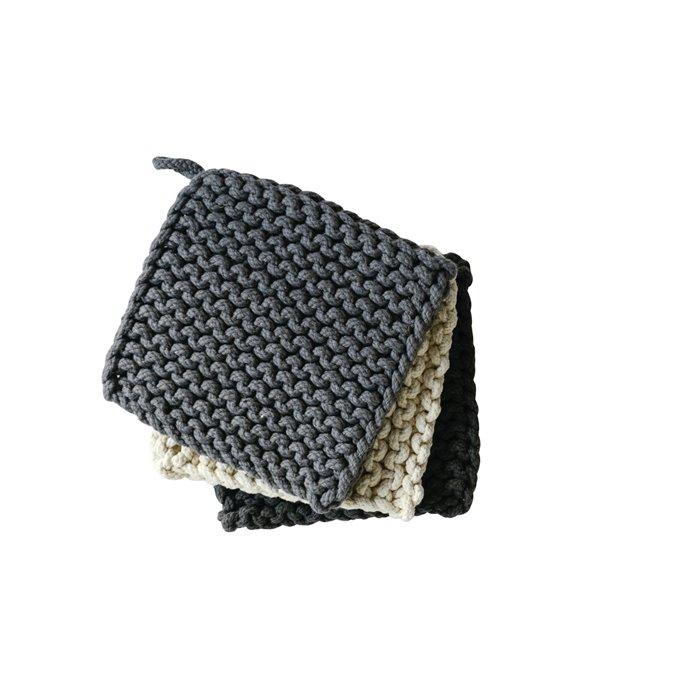 Square Cotton Crocheted Pot Holder (Set of 3 Colors) Thumbnail