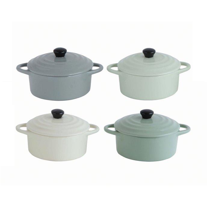 Stoneware Mini Bakers with Lids (Set of 4 Colors) Thumbnail