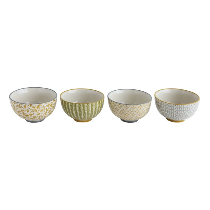 Hand Stamped Stoneware Bowl (Set of 4 Styles) Thumbnail