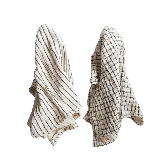 Blue & White Cotton Tea Towel (Set of 2 Patterns) Thumbnail