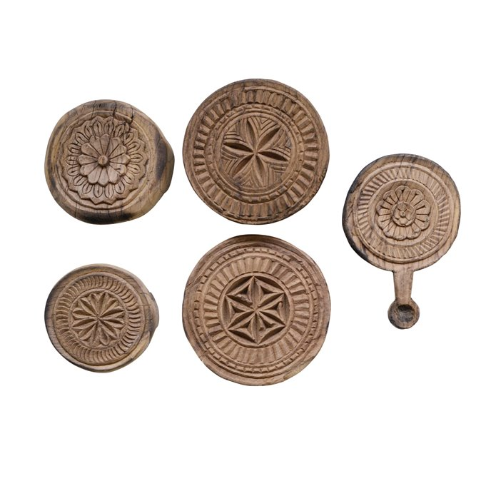 Found Hand Carved Wood Indian Bread Board (Shapes & sizes will vary) Thumbnail