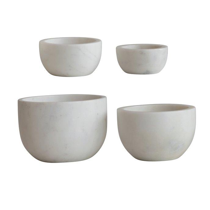 White Marble Bowls (Set of 4) Thumbnail