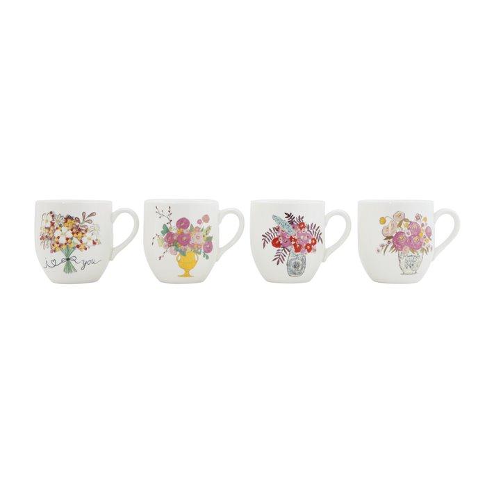 """I Love You"" Flower Bouquet Stoneware Mugs (Set of 4 Designs) Thumbnail"
