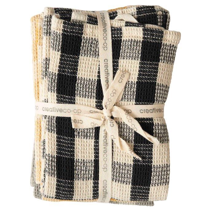 Gingham Cotton Waffle Weave Tea Towels (Set of 3 Colors) Thumbnail