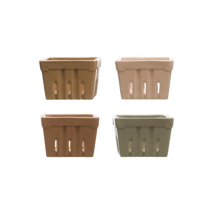 Square Stoneware Berry Baskets (Set of 4 Colors) Thumbnail