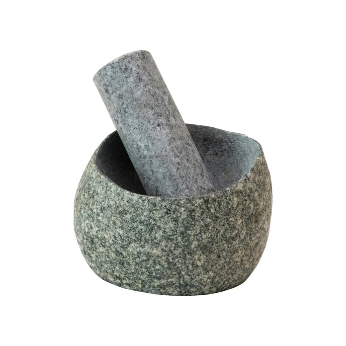 Natural Stone Mortar & Pestle, Set of 2 (Each One Will Vary) Thumbnail