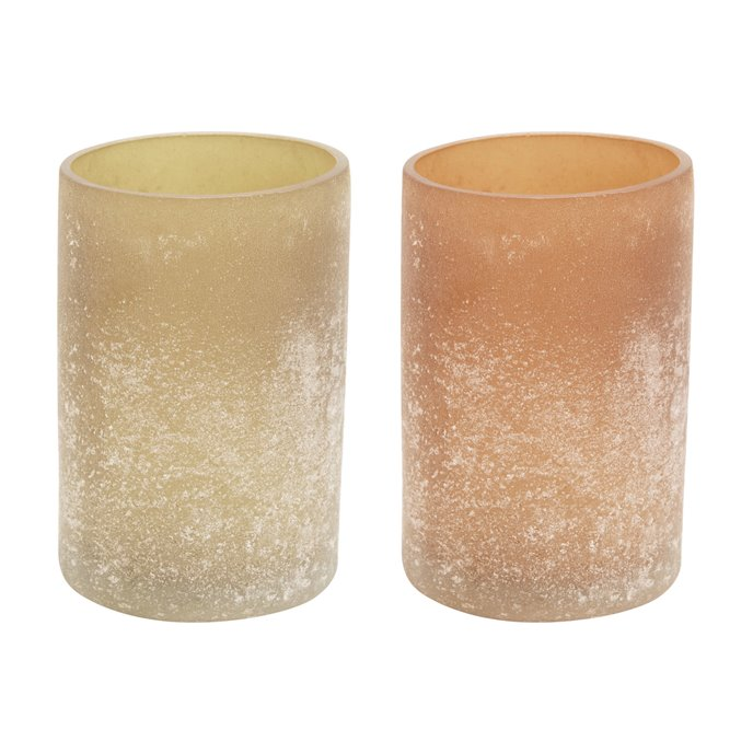 Glass Votive Holder, Distressed Frosted Finish, 2 Colors Thumbnail