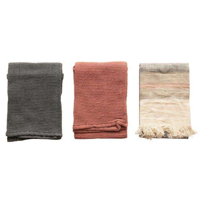 Cotton Tea Towels, Multi Color, Set of 3 Thumbnail
