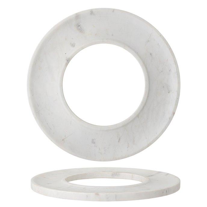White Marble Circle Cracker/Cheese Tray Thumbnail