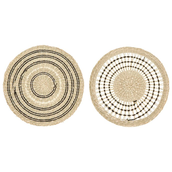 """15"""" Round Handwoven Seagrass Placemat (Set of 2 Styles) Thumbnail"""