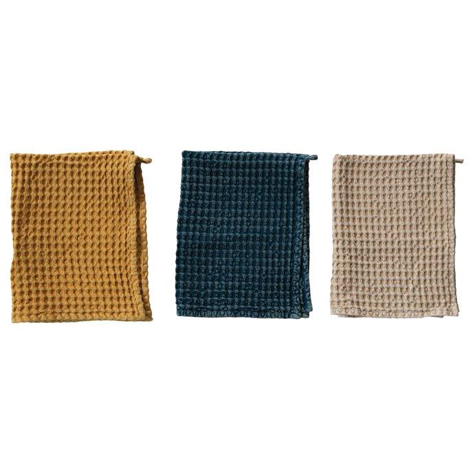 Cotton Waffle Tea Towel, 3 Colors Thumbnail