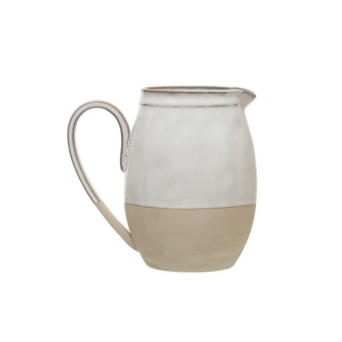White Stoneware Pitcher Thumbnail