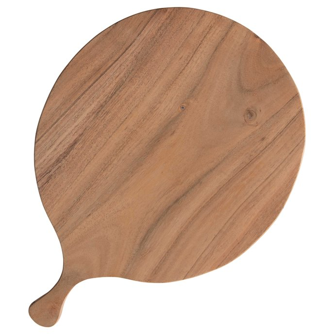 Round Acacia Wood Cheese/Cutting Board with Handle Thumbnail