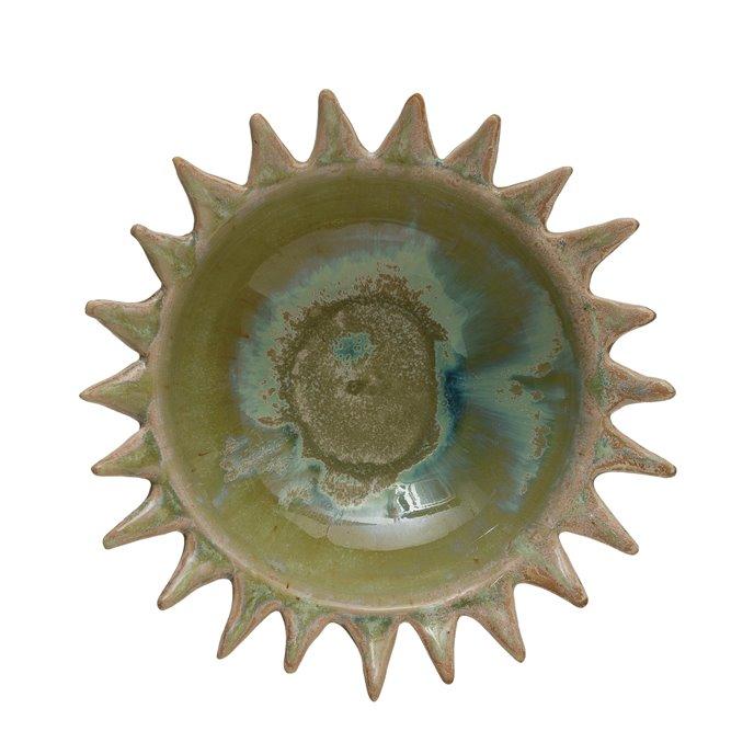 Celadon Stoneware Sunburst Shaped Serving Bowl Thumbnail