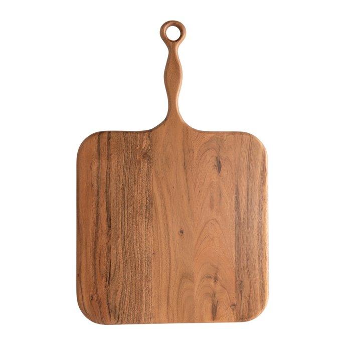 Acacia Wood Cheese/Cutting Board with Handle Thumbnail