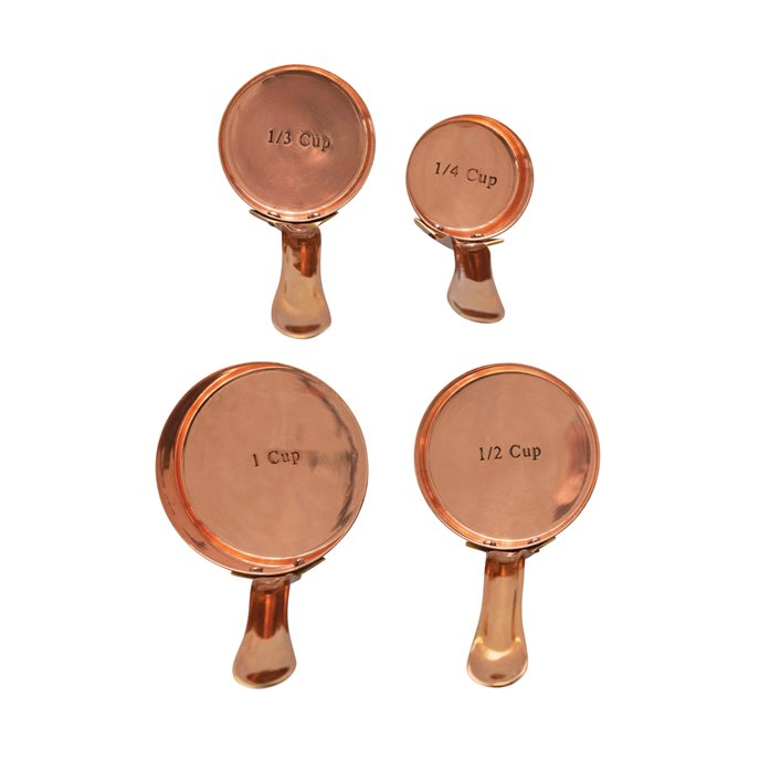 Copper & Brass Measuring Cups, Set of 4 Thumbnail
