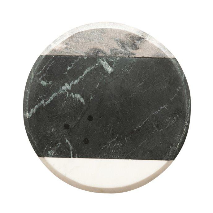 Round Marble Cheese/Cutting Board, Grey, Black & White Thumbnail