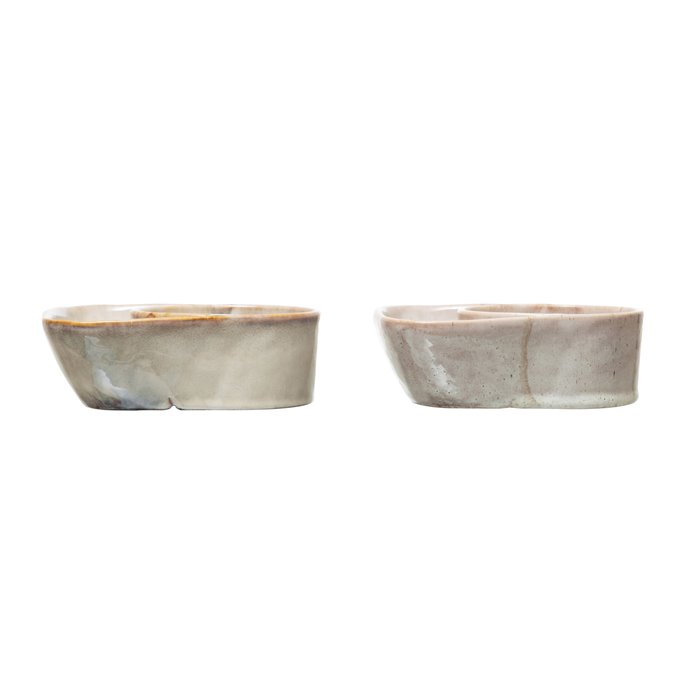 Stoneware Cracker & Soup Bowl, Reactive Glaze, 2 Colors (Each One Will Vary) Thumbnail
