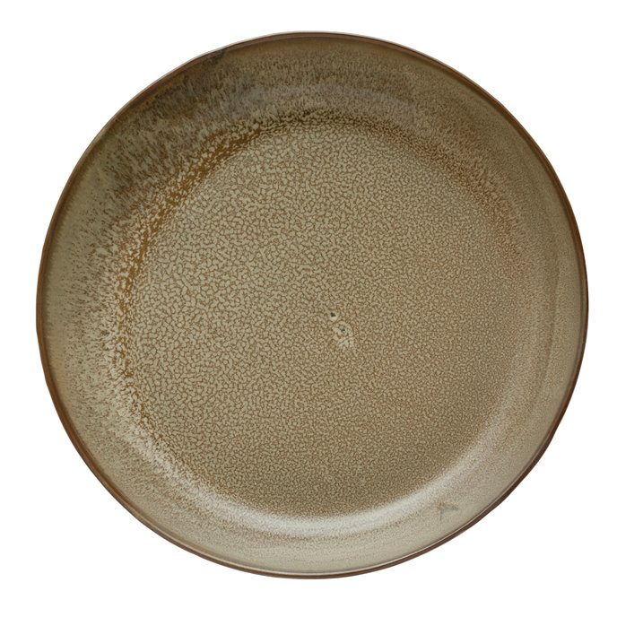 Stoneware Serving Bowl, Reactive Glaze, Brown (Each One Will Vary) Thumbnail