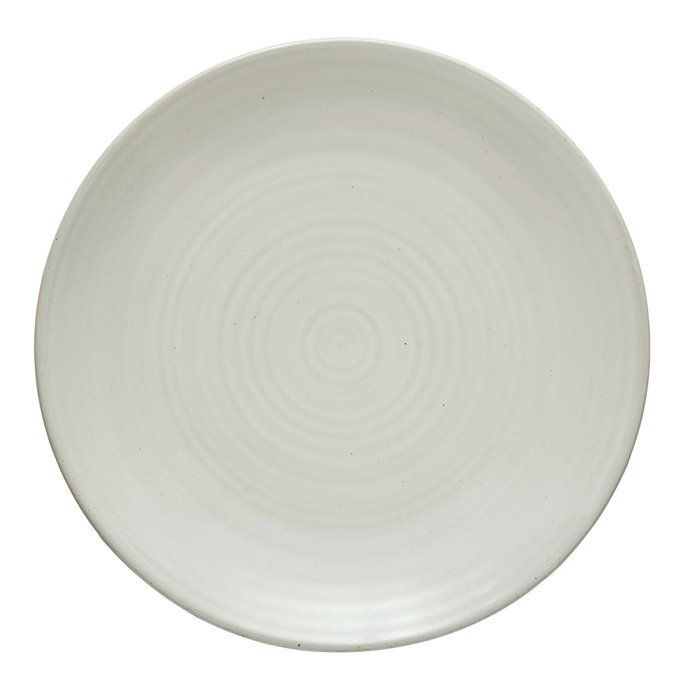 Stoneware Plate, Matte White Thumbnail