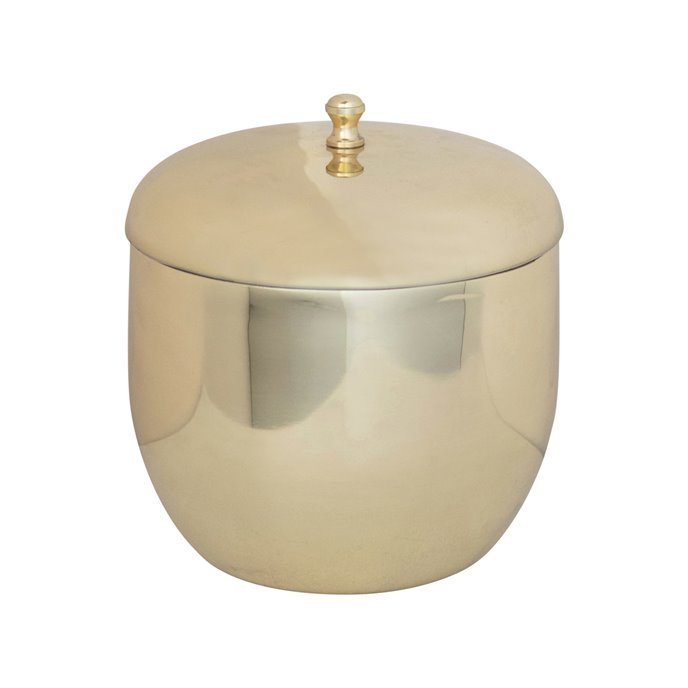 1 Quart Stainless Steel Ice Bucket, Brass Finish Thumbnail