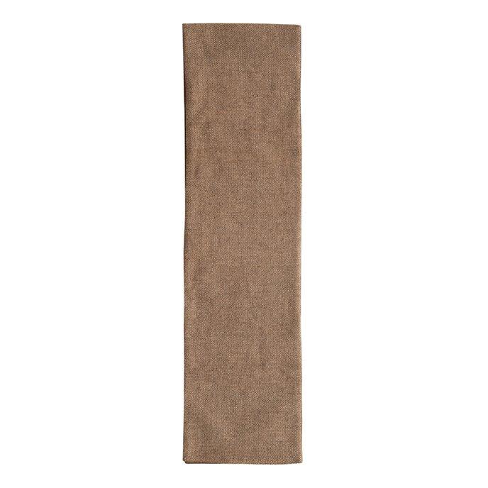 Wool Blend Tweed Table Runner, Brown Thumbnail