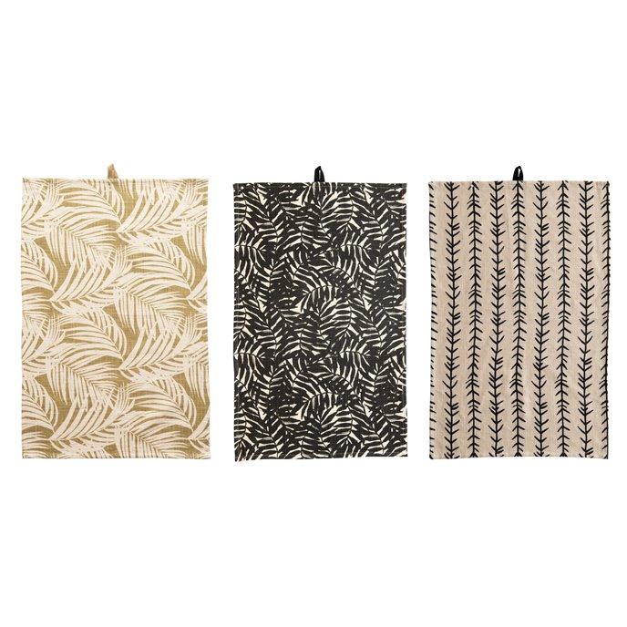 Cotton Printed Tea Towels, 3 Styles © Thumbnail