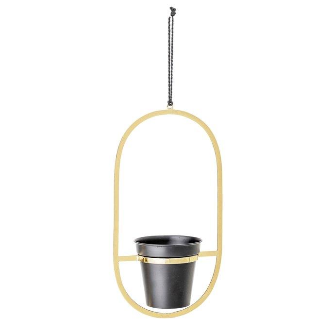 Gold Oval Metal Plant Hanger Thumbnail