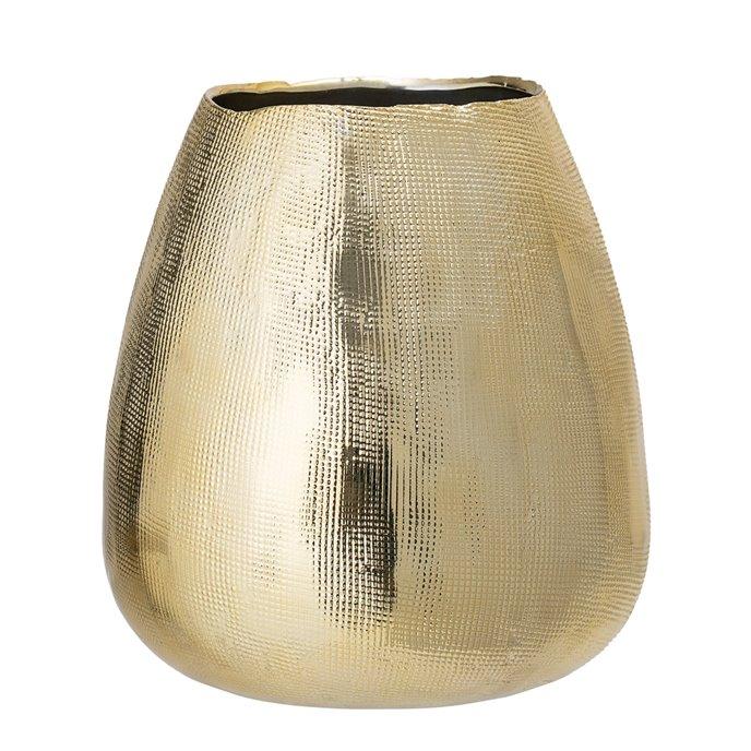 Embossed Gold Stoneware Vase Thumbnail