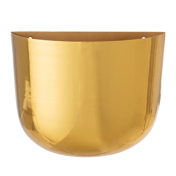 Metal Wall Planter with Brass Finish Thumbnail