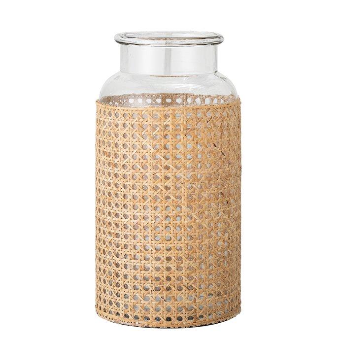 "14.5""H Glass Vase with Decorative Cane Sleeve Thumbnail"