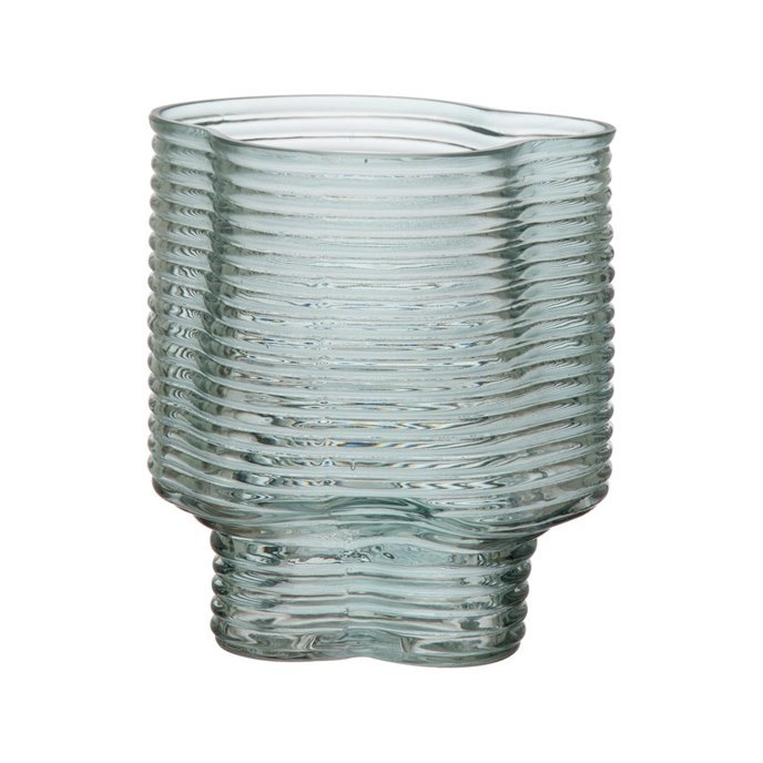 Molded Glass Vase, Green Thumbnail
