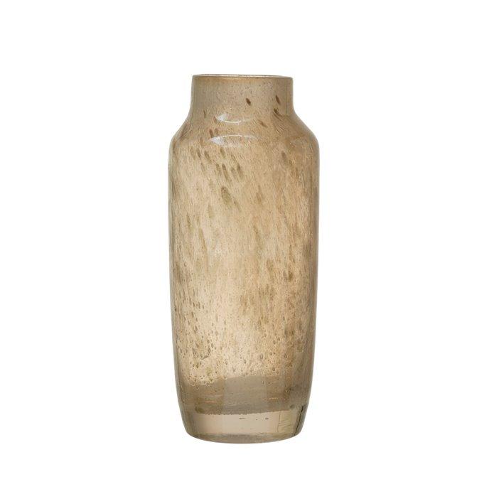 Iridescent Beige Glass Decorative Vase Thumbnail