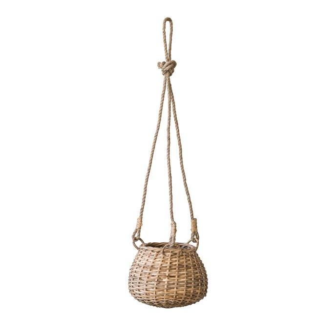 Handwoven Rattan Hanging Basket Thumbnail