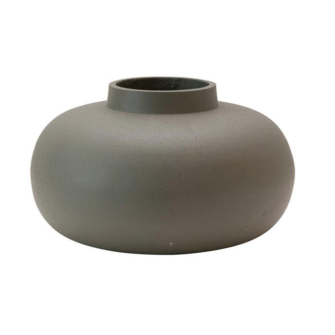 Cast Metal Vase, Grey Thumbnail