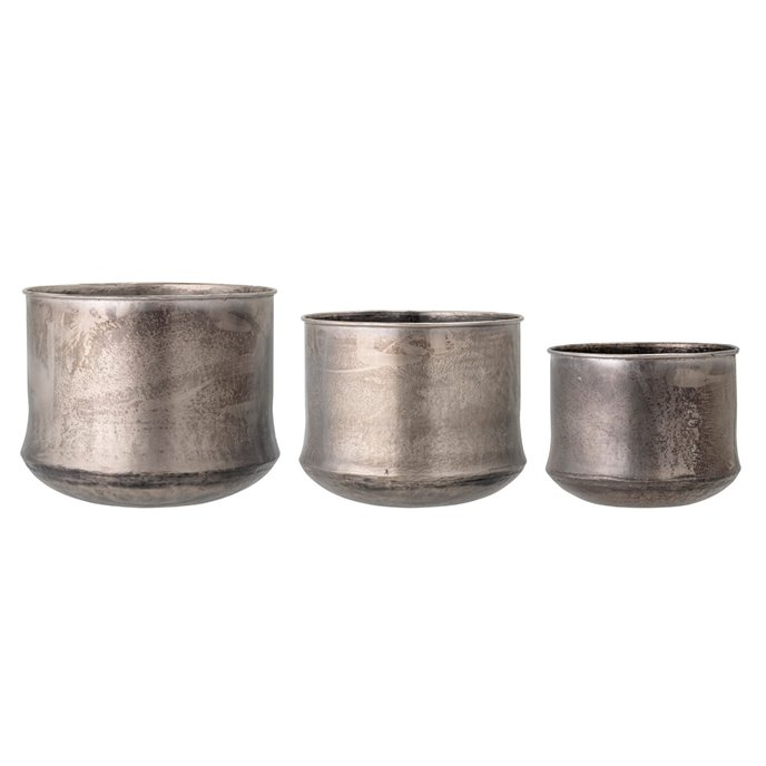 Galvanized Metal Planters, Set of 3 Thumbnail