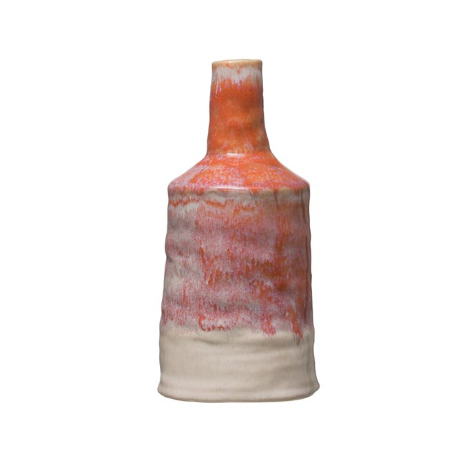 "10.25""H Stoneware Bud Vase with Reactive Glaze Finish Thumbnail"