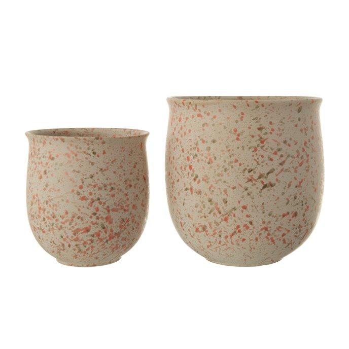 Blush Stoneware Terrazzo Planters (Set of 2 Sizes) Thumbnail
