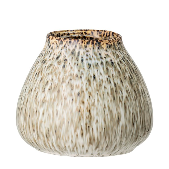 Green Speckled Reactive Glaze Stoneware Vase Thumbnail