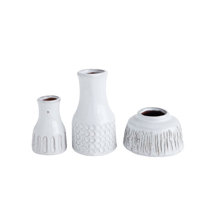 Distressed White Terracotta Vases (Set of 3 Styles) Thumbnail