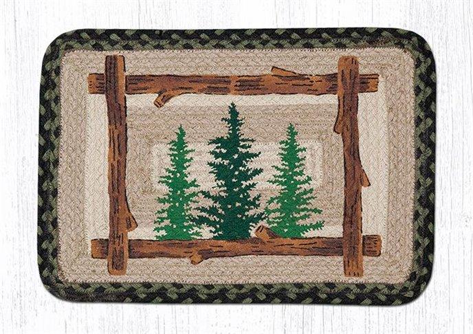 "Tall Timbers Rectangular Printed Braided Placemat 13""x19"" Thumbnail"