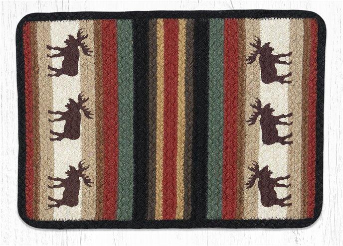 """Moose Rectangular Printed Braided Placemat 13""""x19"""" Thumbnail"""