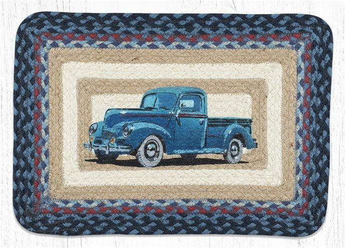 "Blue Truck Rectangular Printed Braided Placemat 13""x19"" Thumbnail"