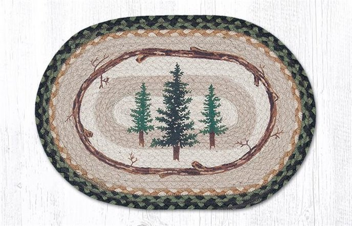 """Tall Timbers Oval Braided Placemat 13""""x19"""" Thumbnail"""