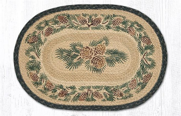 """Pinecone Oval Braided Placemat 13""""x19"""" Thumbnail"""