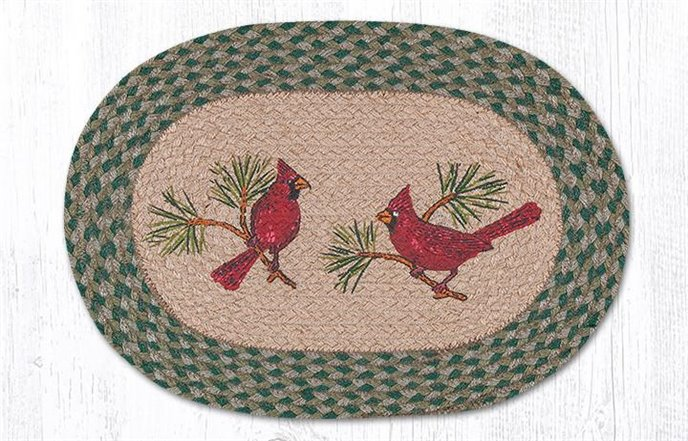"""Cardinals Oval Braided Placemat 13""""x19"""" Thumbnail"""