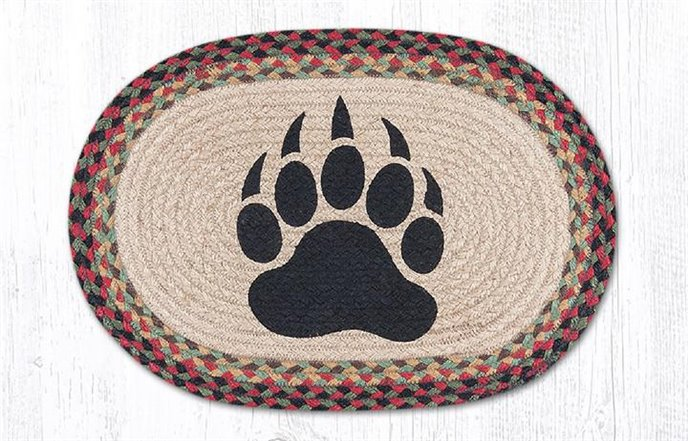 """Bear Paw Oval Braided Placemat 13""""x19"""" Thumbnail"""