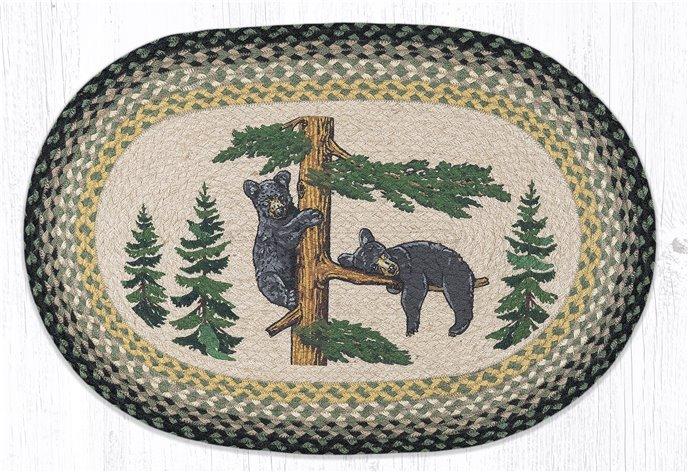 """Bear Cubs Oval Braided Rug 20""""x30"""" Thumbnail"""