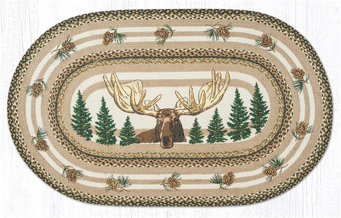 Bull Moose Oval Braided Rug 3'x5' Thumbnail